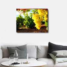 Laeacco Canvas Calligraphy Painting Vineyard Harvest Poster Print Wall Art Pictures Printed for Home Decoration Mural Wallpaper