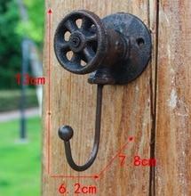 2Pieces/Lot  H:13CM Vintage LOFT Industrial Style Cast Iron Wall Clothes Hooks Decoration