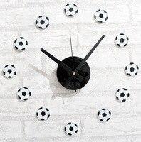 Fashion Creative Fun Sports Football Style DIY Wall Clock