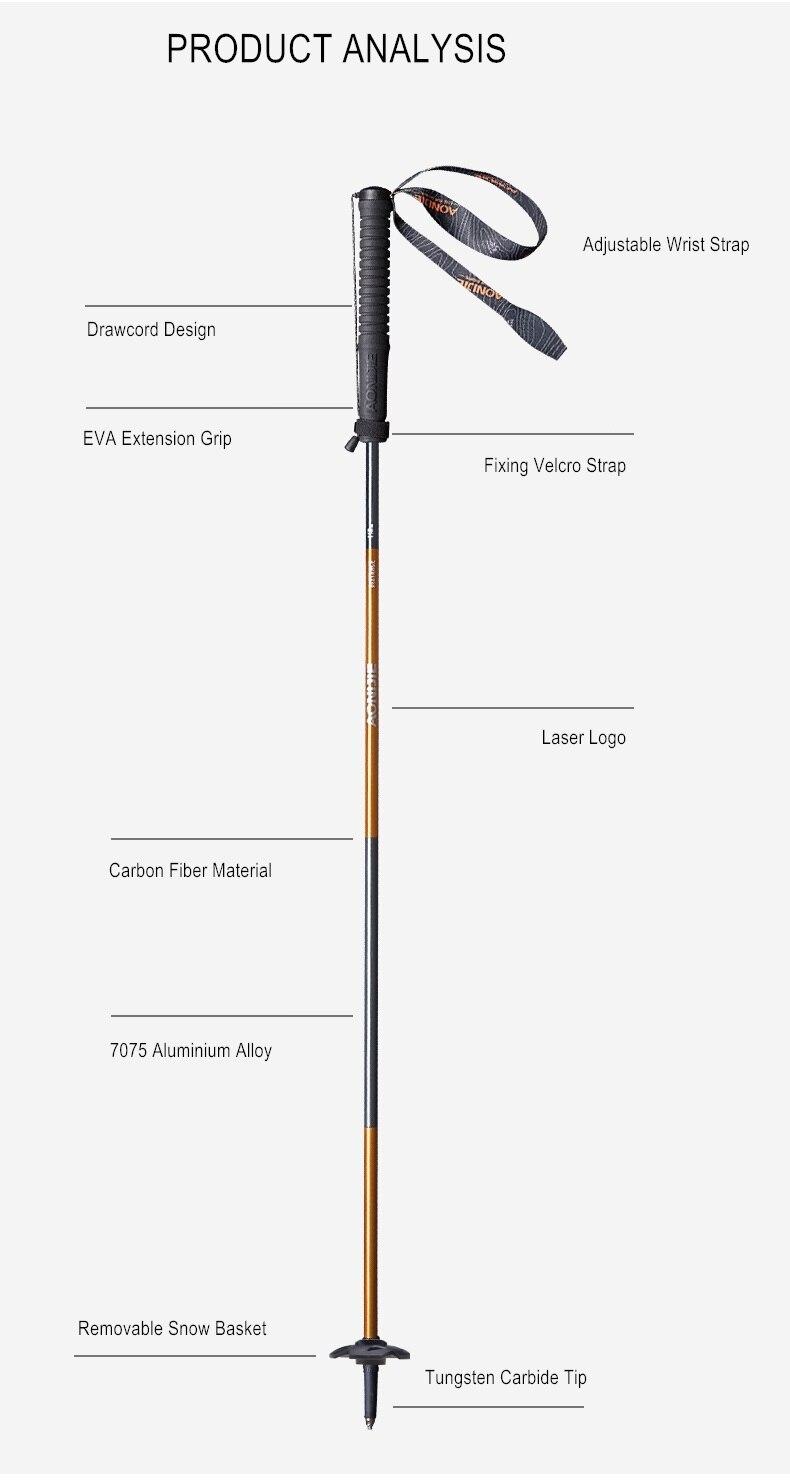 Aonijie e4102 m-pole dobrável ultraleve bloqueio rápido