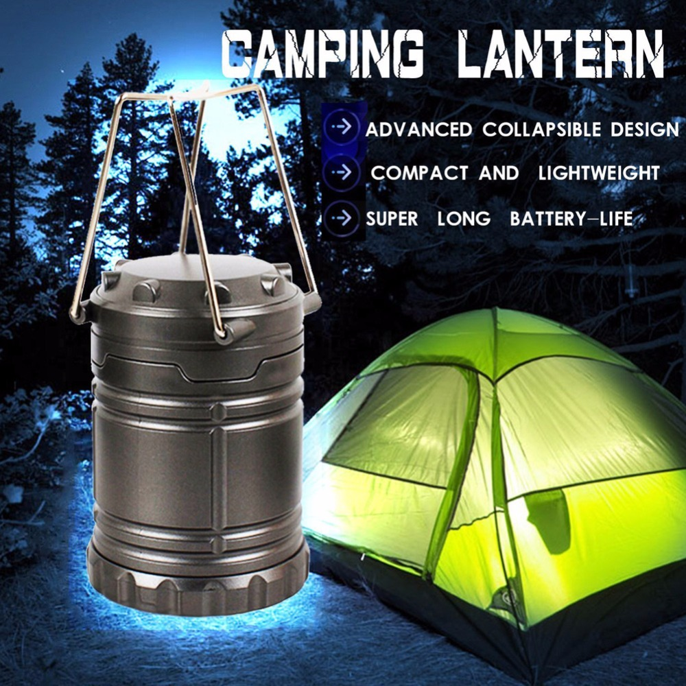 Black/Gray Super Bright Light 30 LED Camping Lantern Outdoor Portable Lights Water Resistant Camping Lighting Lamp 5l collapsible water container portable outdoor camping bucket
