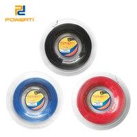 Powerti 1.23mm torção tennis string poliéster gym controle corda de treinamento tênis 200m carretel esporte ao ar livre corda