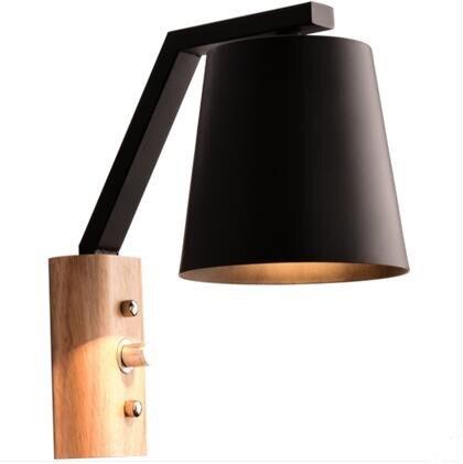 Kreative Holz Eisen Wandleuchten Moderne LED Wandleuchten Treppen Leuchten Für Schlafzimmer Wandleuchte Home Innenbeleuchtung Lamparas - 4