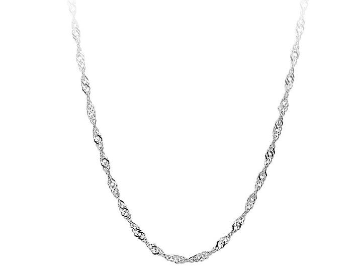 Shuangr оптовая продажа 1 шт. цепь серебро 1.2 мм воды волна цепи Цепочки и ожерелья для Для женщин изделия витой цепи 16-30 дюйм(ов) Бесплатная доставка