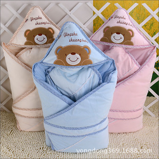 Free shipping thickened gall hold off newborn babies were coated cotton washable blankets children