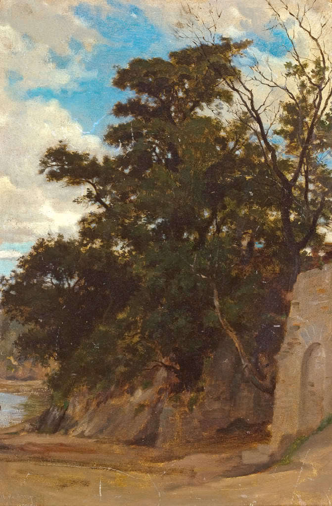 Handmade Oil painting reproduction Coastal Landscape by William Bouguereau
