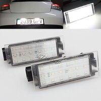 2X Car LED License Plate Light 12V SMD3528 18 LED Lamp For Renault Megane 2 3