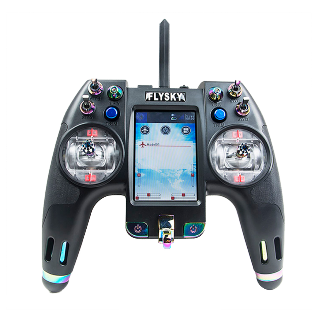 Flysky FS-NV14 14CH Nirvana RC Transmitter Remote Controller with iA8X + X8B Dual Receiver 3.5 Inch Display Open Source Parts flysky fs nv14 2 4g 14ch nirvana remote controller transmitter open source with ia8x rx for fpv racing drone rc helicopter