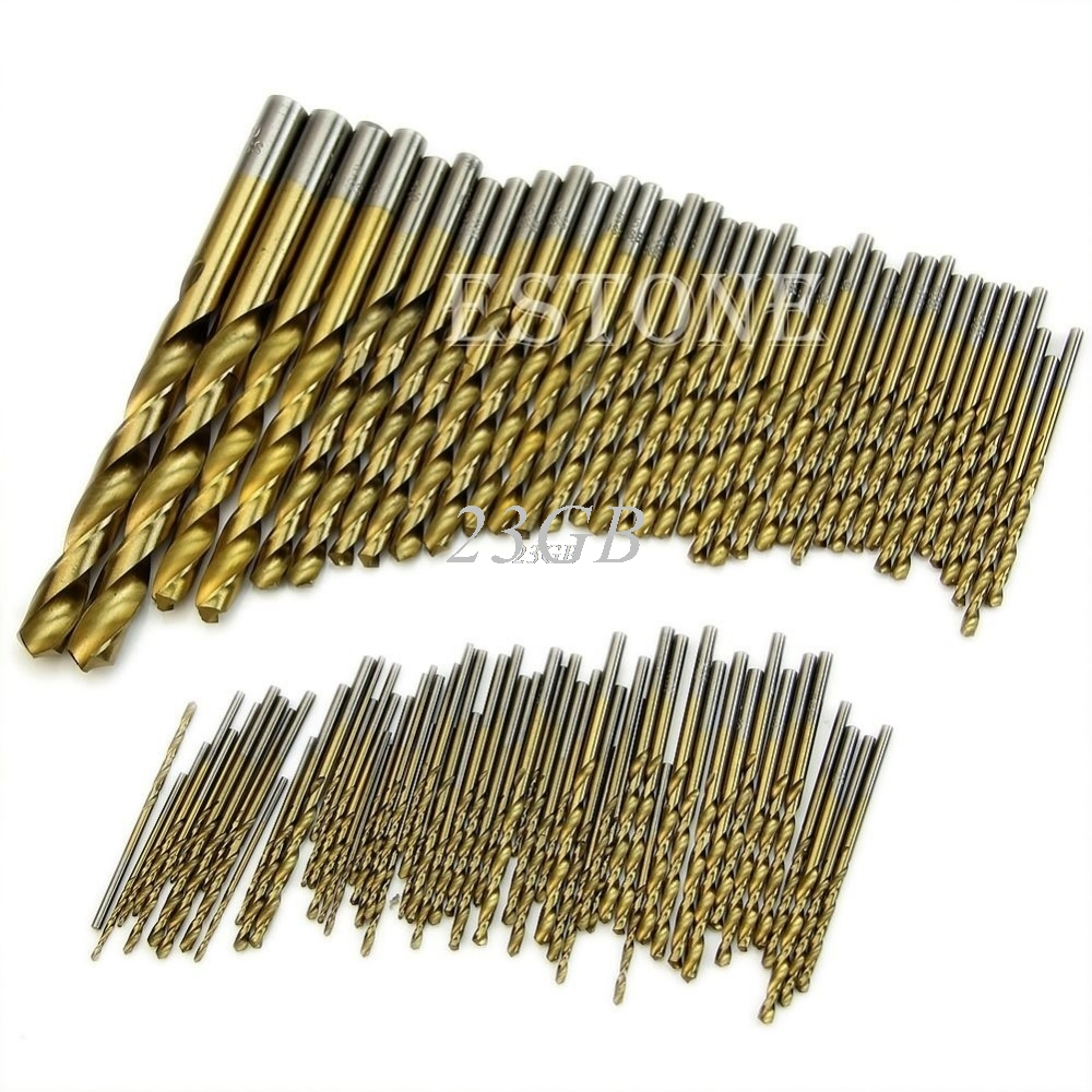 Twist Drill Bit Set Saw Set Drill Woodworkin Tool 1.5-10mm For Cordless Screwdriver 99PCS/SET A03_15 new 50mm wall hole saw drill bit set 200mm connecting rod with wrench mayitr for concrete cement stone