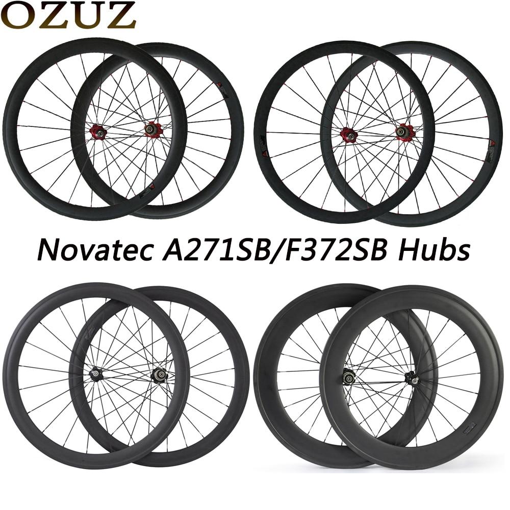 OZUZ A271SB F372SB roues 24 38 50 88mm V frein en Fiber de carbone roues route vélo roues pneu tubulaire 23mm de large 700c 3K jante