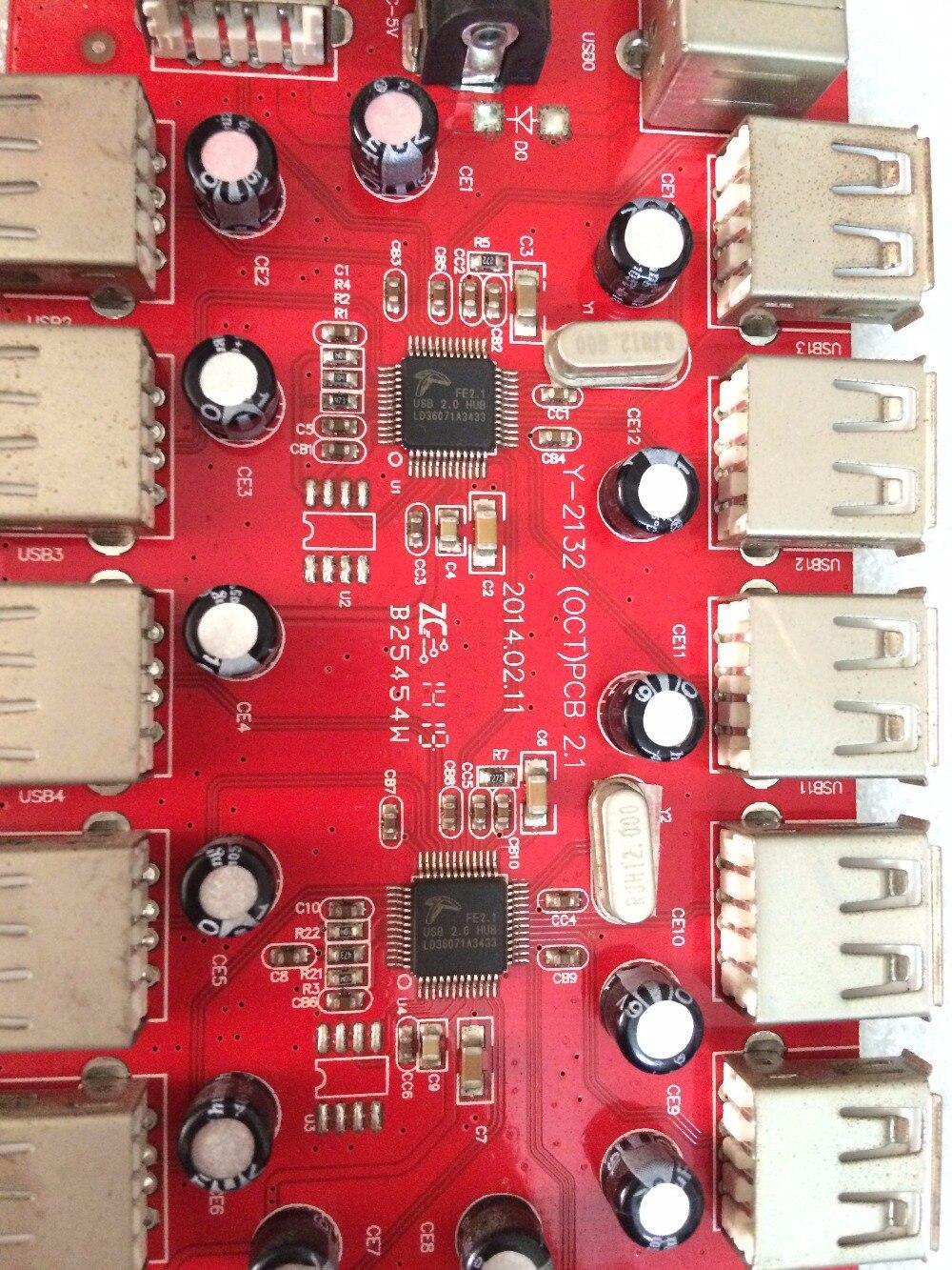 Kvm-switches Kuangcheng Usb2.0 13 Port Hub Hub Port Extender Dekonzentrator Pcb