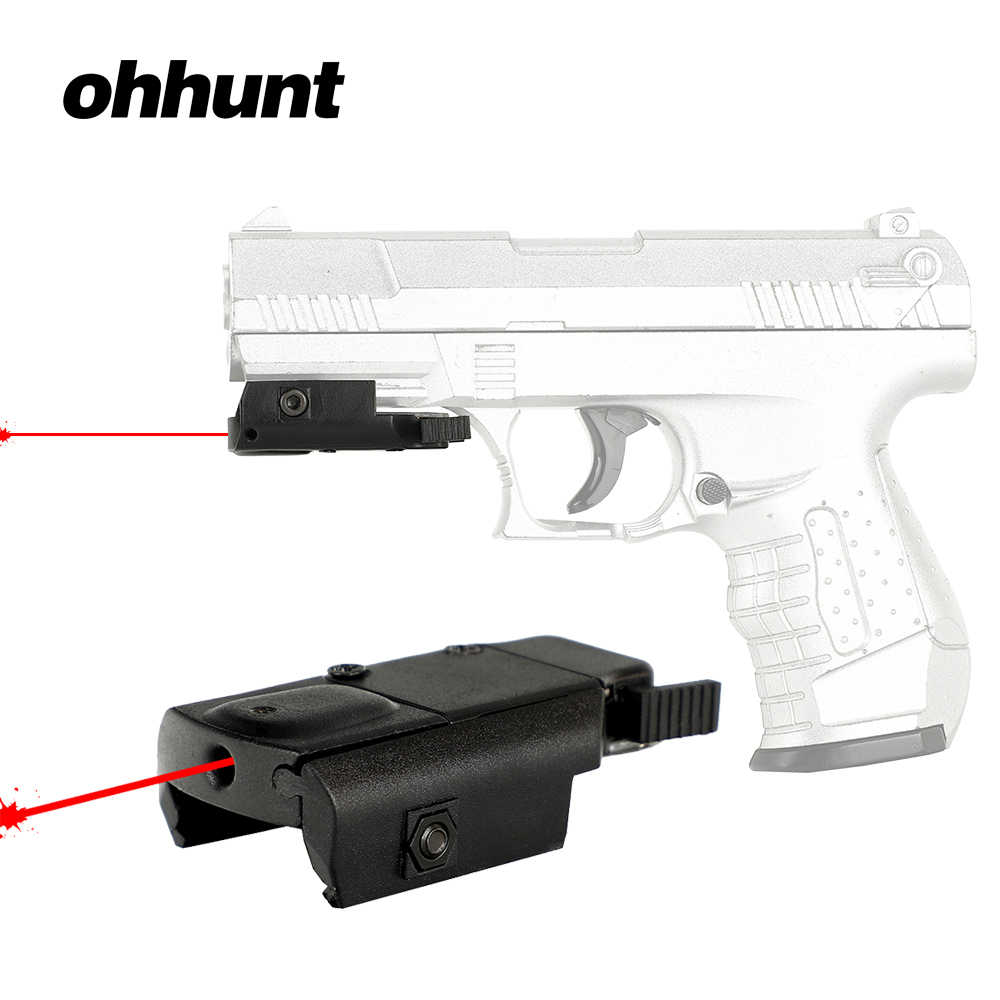 Ohhunt Jacht Red Dot Laser Mini Compact Red Laser Sight met 21mm Picatinny Rail Mount voor Tactical Riflescope Pistool