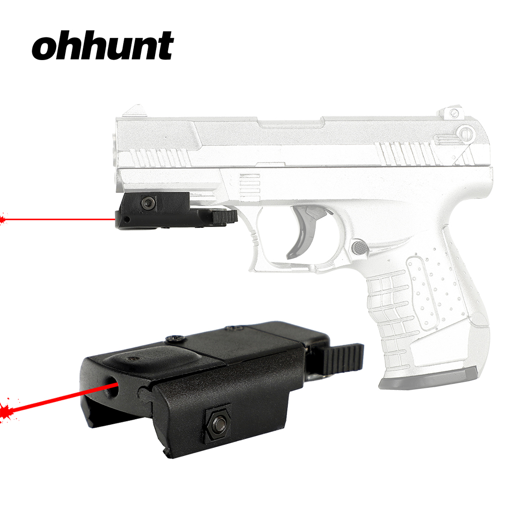 Ohhunt Hunting Red Dot Laser Mini Compact Red Laser Sight With 21mm Picatinny Rail Mount For Tactical Riflescope Pistol