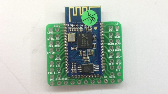 FREE SHIPPING 1pcs/lot CSR8645 APT-X Hifi Bluetooth 4.0 Receiver Board 3.7V/4.2V Lithium Bat Power
