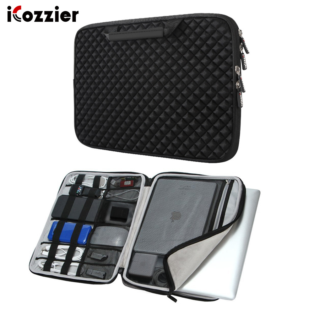 ICozzier Laptop Sleeve Case Bag For Macbook Air 13 Pro 13 Pro 15'' New Retina 12 13 15 Cover Notebook Handbag 14