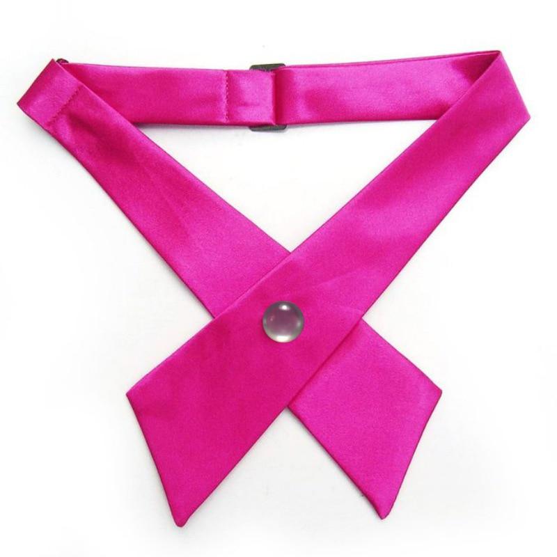 Casual Formale Einfarbige Erwachsene Männer Frauen Einstellbare Krawatte Kreuz Fliege