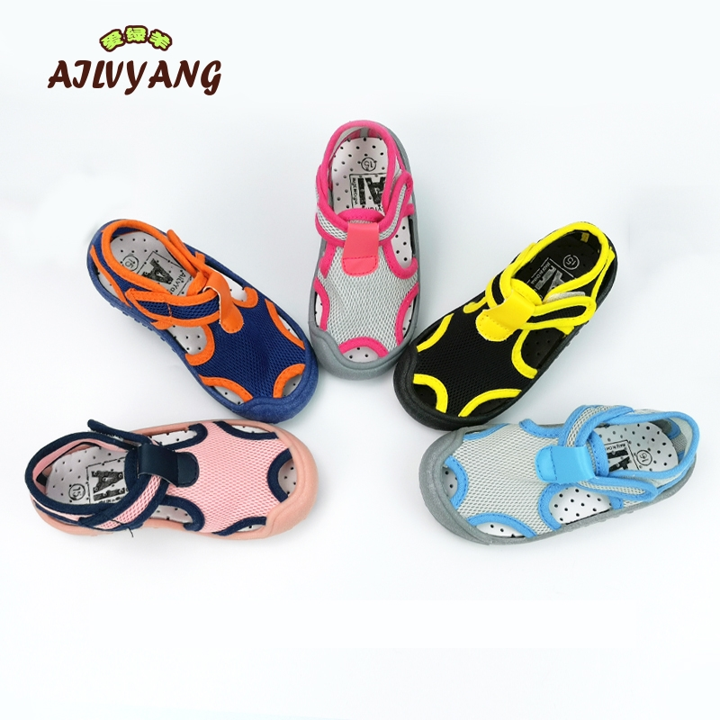 AILVYANG Brand Children Summer Sandals Shoes Baby Boys Girls Lycra Elastic Cloth Shoes Kids Casual Candy Color Shoes A08