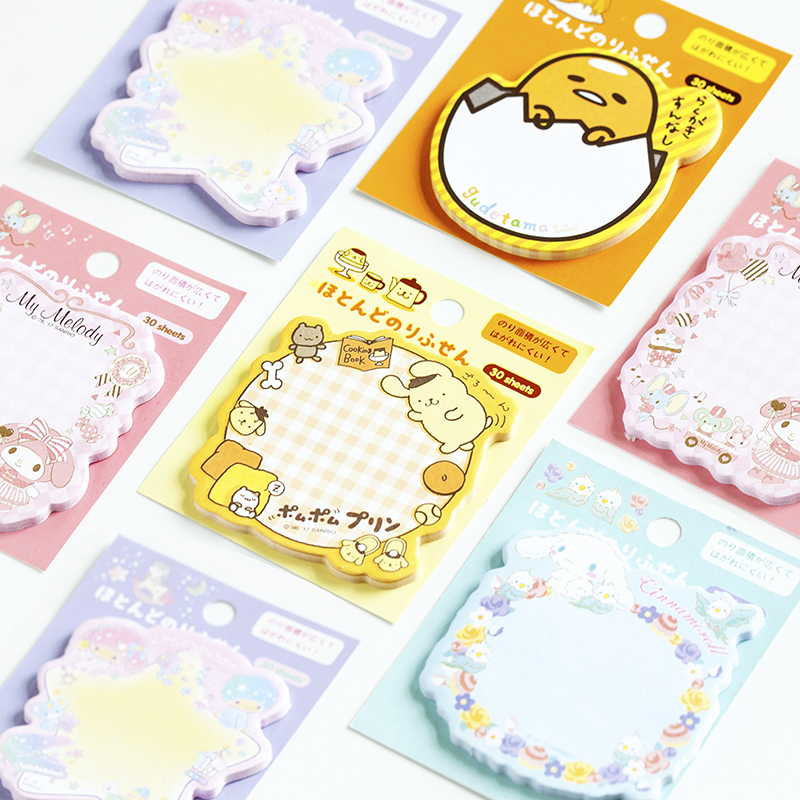 1 Set Memo Pads Sticky Notes Kawaii Cute Melody Dog Paper Notepad Diary Scrapbooking Stickers Office School stationery Bookmark