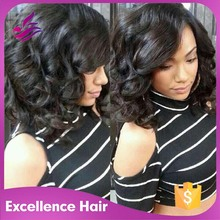 Brazilian Bob Glueless Lace Wig Lace Front Bob Wigs With Side Bang For Black Women Short Bob Cut Full Lace wig Natural Hairline