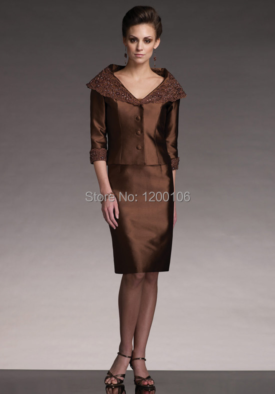 Online Get Cheap Short Brown Mother Bride Dresses -Aliexpress.com ...