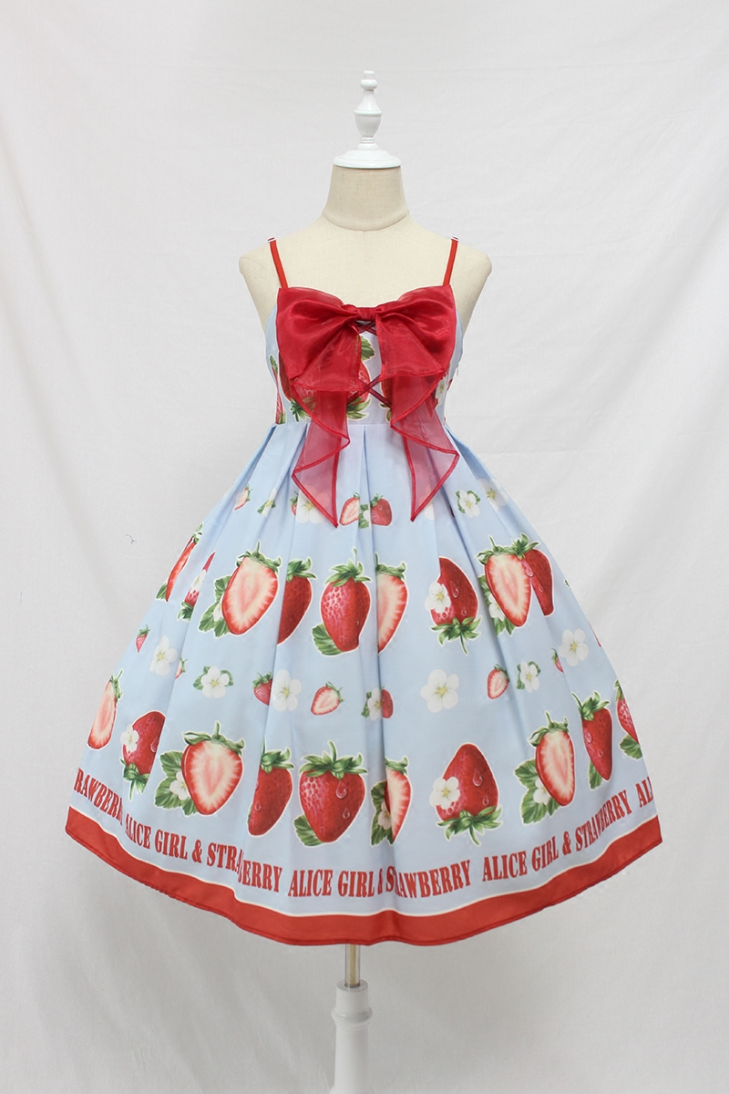 Sweet Strawberry Printed Lolita Casual JSK Dress Summer Midi Dress by Alice  Girl Pre order|Dresses| - AliExpress