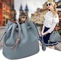 Luxury Brand Fashion Women Genuine Leather Messenger Bags Ladies Bucket Bag European New Shoulder Crossbody Bags