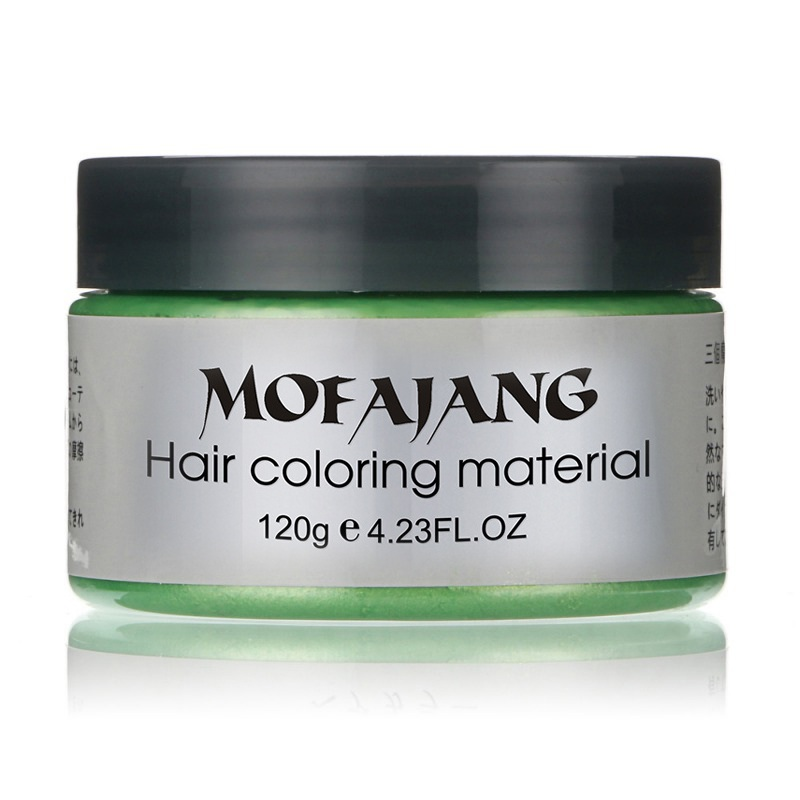 Купить с кэшбэком Hair Color Wax Dye One-time Style Styling Products Molding Paste Seven Colors Hair Dye Wax EE5