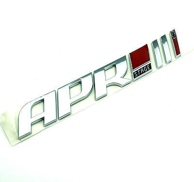 1 Pcs Drop shipping ABS APR STAGE 1+ 2+ 3+ Racing Car Emblem Badge APR STARGE 1 2 3 Plus 3D car Stickers for GOLF car-styling