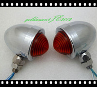 From Aftermarket Chrome Red TURN SIGNAL Bullet LIGHT Fitting For Kawasaki Vulcan VN 750 800 900