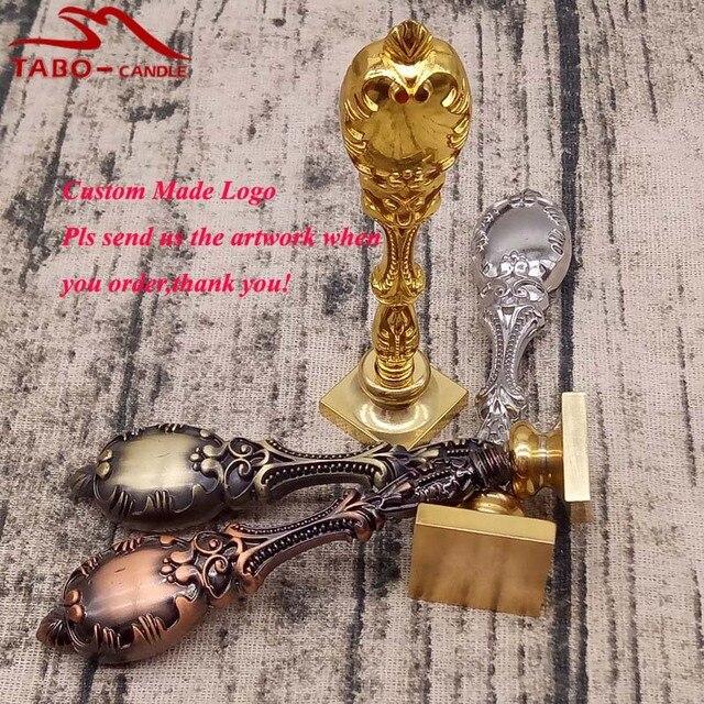 US $26 59 |Premium Peacock Maniglia In Metallo Logo Personalizzato Made  Piazza Ceralacca Timbro con 3 Diverse Dimensioni per il Documento di Tenuta  in