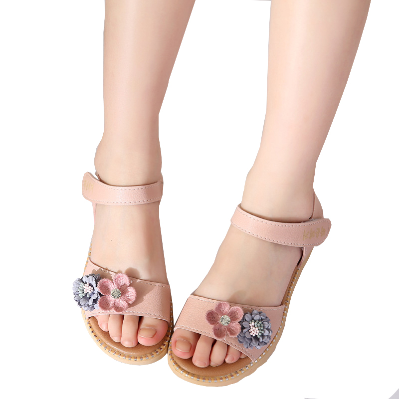 9d2fd8144 Detail Feedback Questions about New 2019 Children Kids Girls Summer Flowers  Summer Sandals For Teens Girls Princess Shoes 5 7 8 9 10 11 12 Years old  Sandals ...