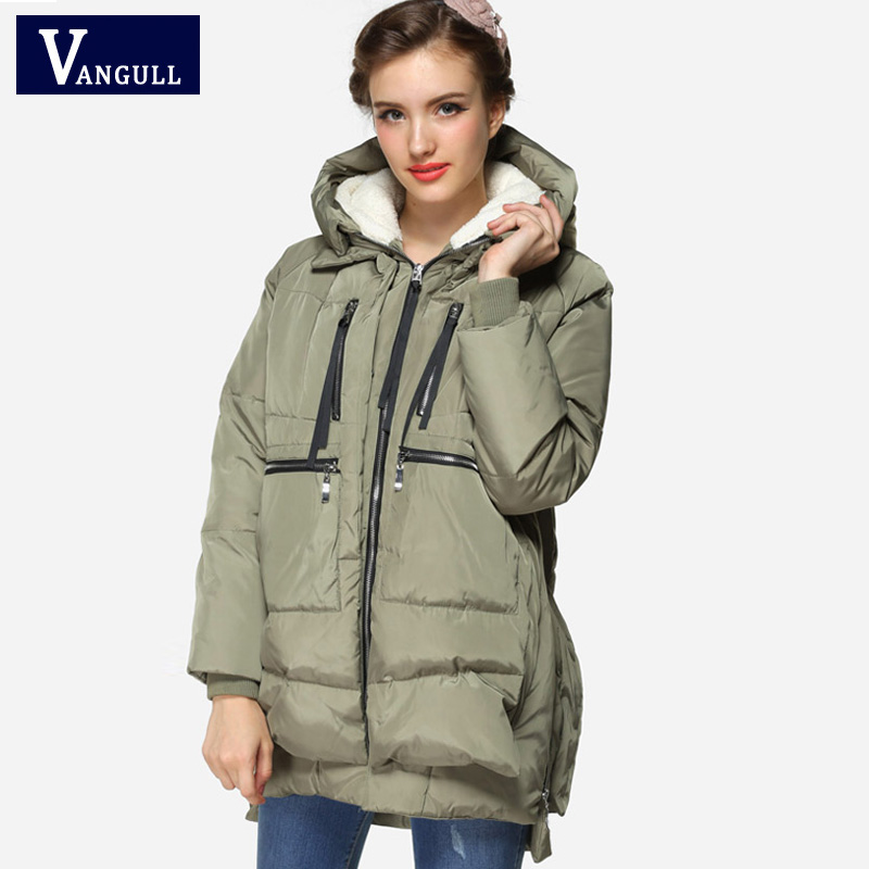 Winter Women Regular Thickening Warm Collars Cotton Padded Female Jacket And Coat 2017 Army Green Plus size Female women's   Parka