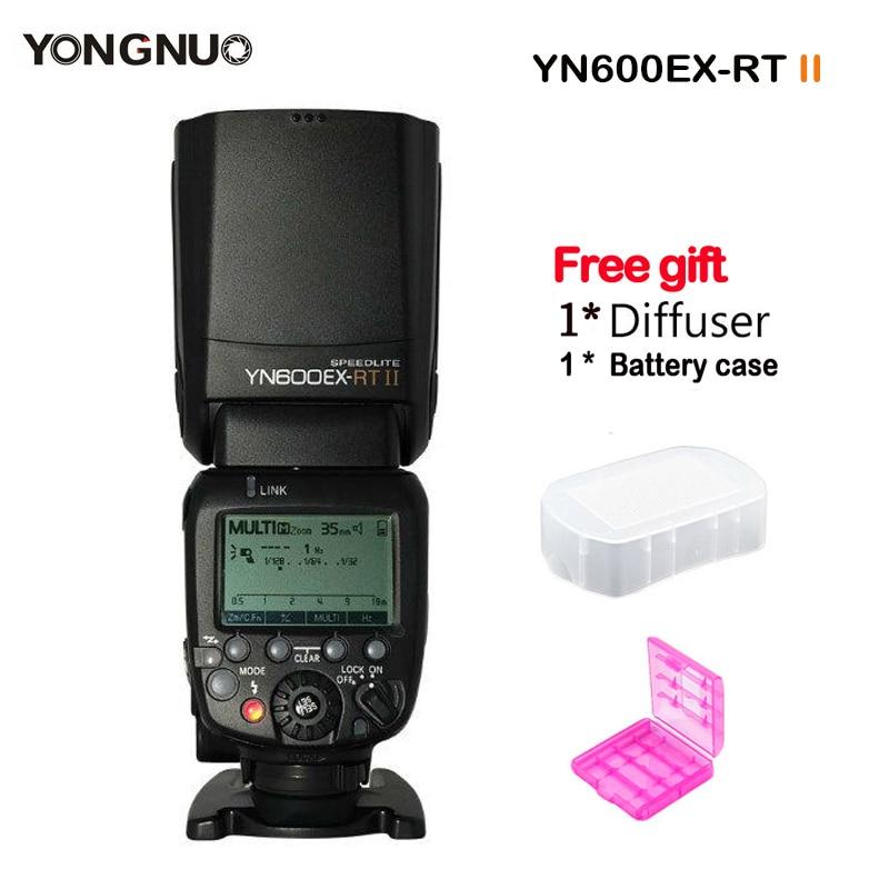 YONGNUO YN600EX-RT II Flash Speedlite 2.4G Wireless HSS 1/8000s Master TTL Speedlight for Canon DSLR Camera YN-E3-RT as 600EX-RT yongnuo yn e3 rt ttl radio trigger speedlite transmitter as st e3 rt for canon 600ex rt yongnuo yn600ex rt