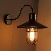 LOFT quarto simples e moderno espaço de arte luz industrial tampa da lâmpada país da América Do Vintage personalidade Luzes de parede varanda Lâmpada