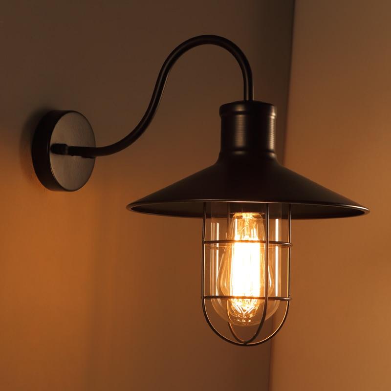LOFT simple modern bedroom space art lamp Vintage American country ...