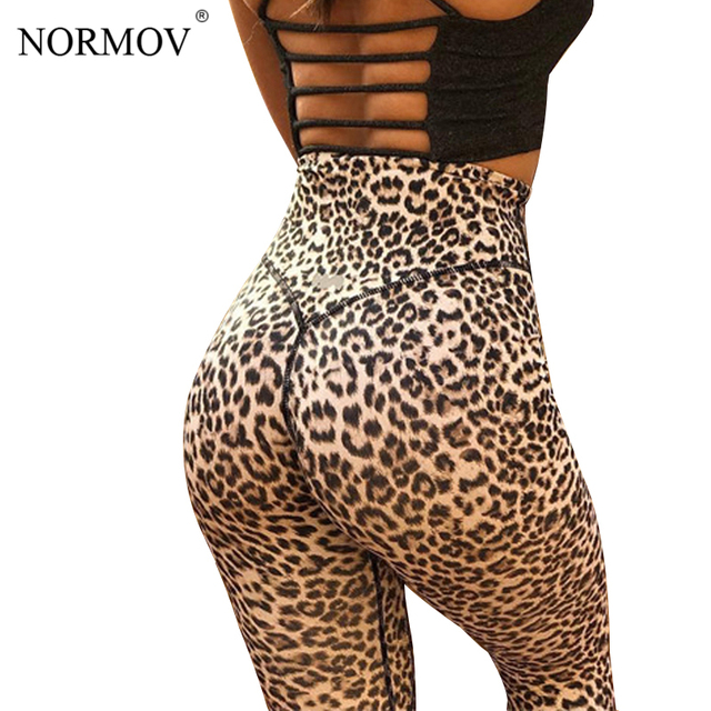 adf5a31fc NORMOV Workout Leggings Women Sexy High Waist Pants Female Clothing Leopard  Printed Leggins Push Up Summer Trousers Femme