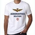 2016 da forma dos homens aeronautica militare dos homens camisa de manga curta t T-Shirt do Bordado do air force one Marca homme