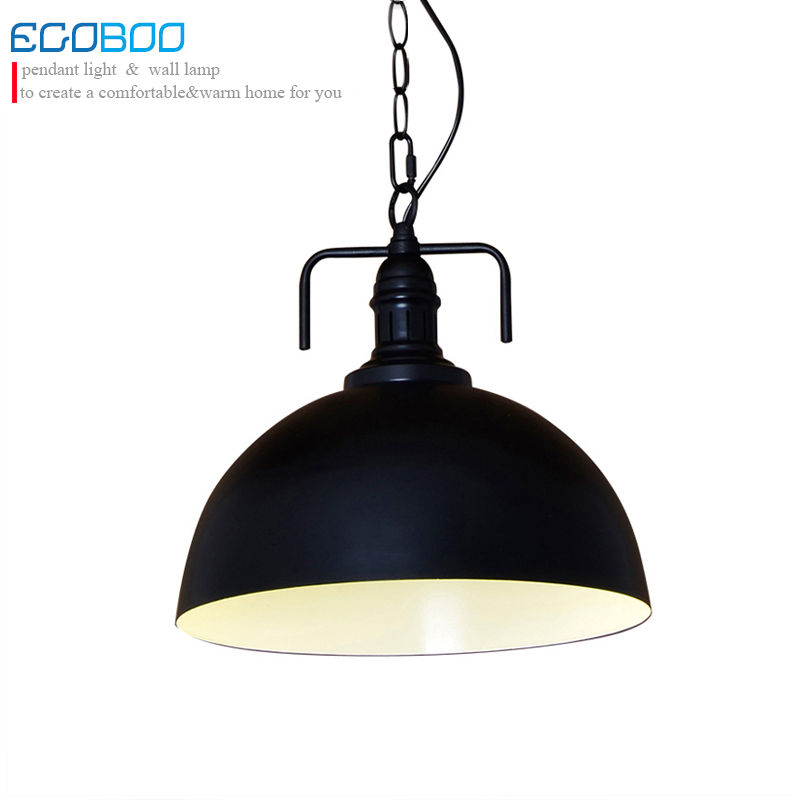 EGOBOO Industrial Style Retro Pendant Lights Vintage Pendant Lamp Hanging Lamp with E27 Led Bulb Dinning Room Kitchen/ Bar
