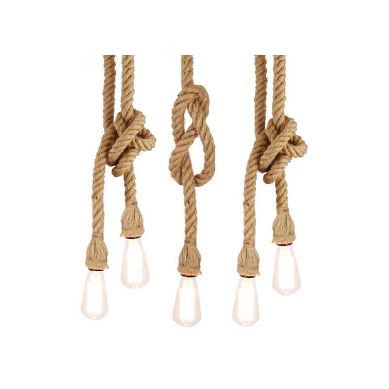 Американский деревенский Стиль подвеска ручной работы лампы с E27 держатели ламп, висит веревка Pestaurant комнаты лампа Винтаж лампы на канатах (DF-63)