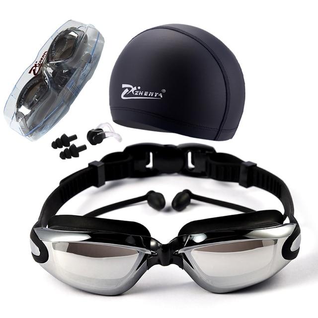 7515022cd Miopia Óculos de Natação HD lente míope óculos de Acetato De prescrição  Óculos de chapeamento de