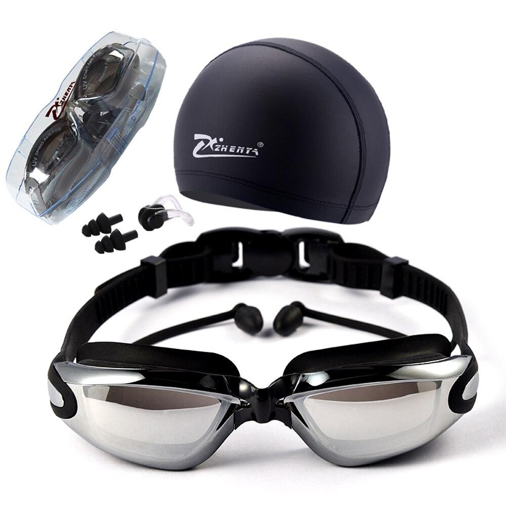 Myopia Swimming Goggles HD Shortsighted Prescription Glasses Acetate Spectacles Plating Lens Adult Swim Goggles Pools Swiming