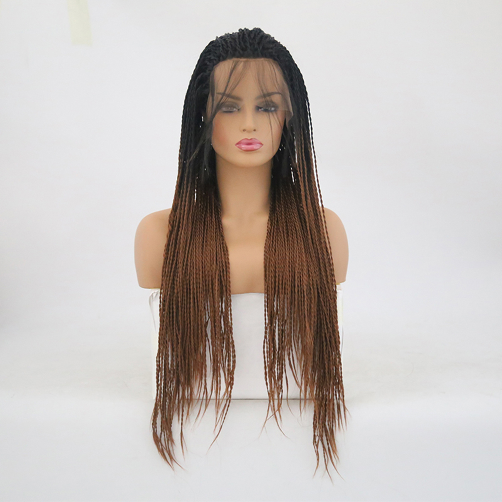 Charisma Twist Synthetic Lace Front Wigs Ombre Hair Color With Dark