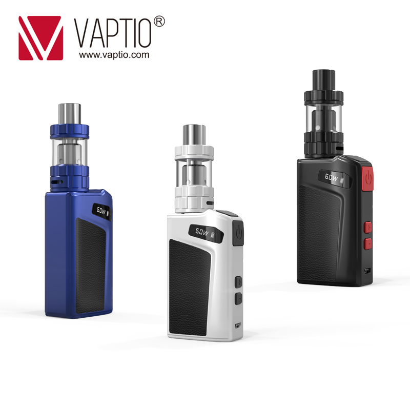 Ship From UK! Electronic Cigarette VAPTIO Move 60 Vape Kit With 2100mAh Built In Battery Mod 7-60W & 2ml Tank 0.69 Inch Display