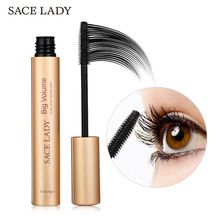 SACE LADY Waterproof Rimel Lash Mascara Professional Black Mascara Quick Dry Curling Thick Lengthening Eyelash Mascara все цены