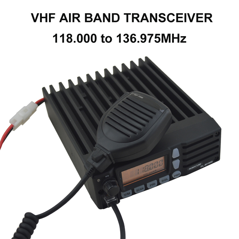 118.000-136.975MHz VHF AIR BAND MOBILE TRANSCEIVER Vehicle Car Two-way Radio  Walkie Talkie FL-M1000A