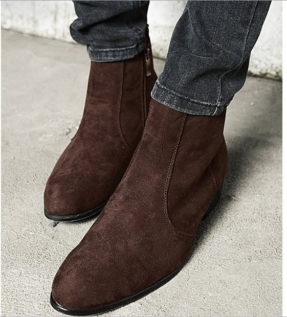 Aliexpress.com : Buy Free Shipping Fashion Faux Suede Boot for Men ...