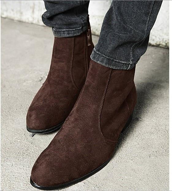 Aliexpress.com : Buy Free Shipping Fashion Faux Suede Boot for Men