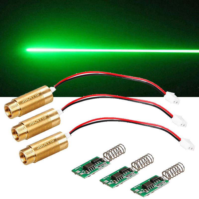 3pcs 532nm 50mW Green Laser Module Laser Diode light Free Driver LAB Steady working