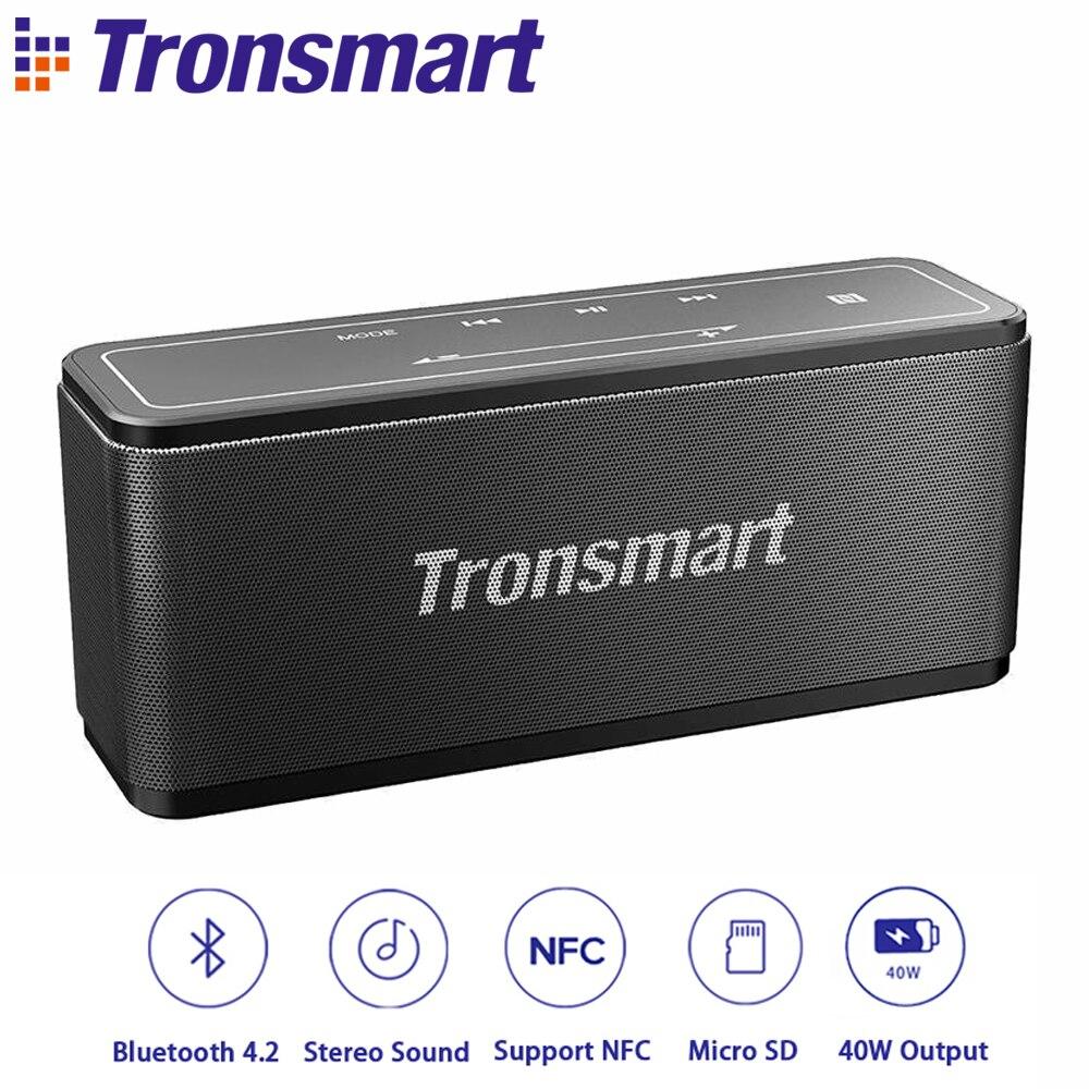 Original Tronsmart Element Mega Bluetooth Speaker Wireless Speaker 3D Sound TWS 40W Output NFC Portable Speaker MicroSD Card цена