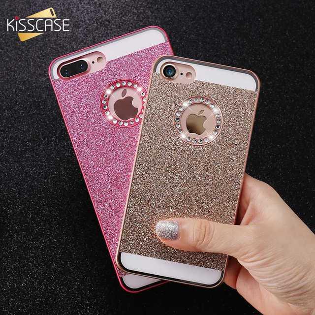 KISSCASE Bling Case For iPhone 5 5S SE 4S Girly Luxury Girly Cover For  iPhone 6 6S 7 Plus Glitter Diamond Cases Back Shells Capa 1da515444